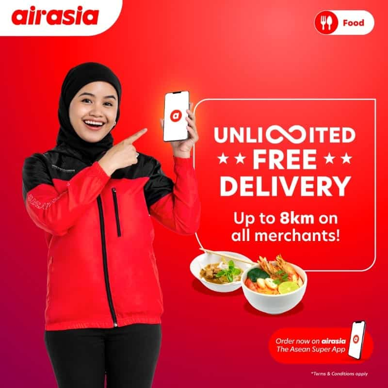 airasia food singapore unlimited free delivery